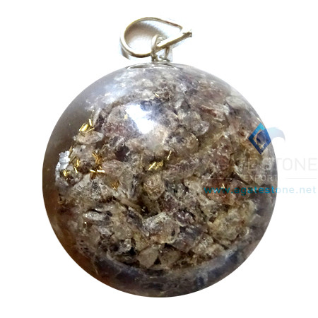 Orgonite Dome Shaped Blue Aventurine Pendant