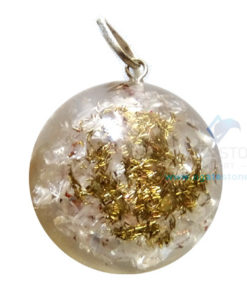 Orgonite Dome Shaped Crystal Quartz Pendant