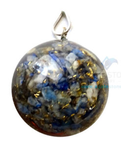 Orgonite Dome Shaped Lapis Lazuli Pendant