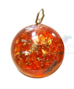 Orgonite Dome Shaped Orange Onyx Pendant