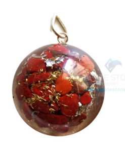 Orgonite Dome Shaped Red Jasper Pendant