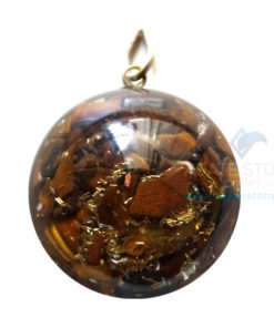 Orgonite Dome Shaped Tiger Eye Pendant