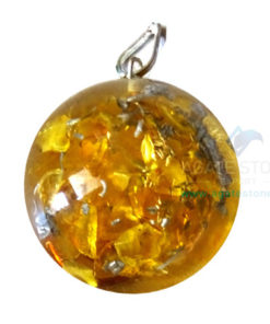 Orgonite Dome Shaped Yellow Onyx Pendant
