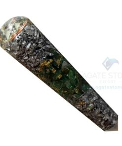 Orgonite Green Jade Massage Wand with Aluminium