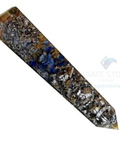 Orgonite Lapis Lazuli Massage Obelisk with Aluminium