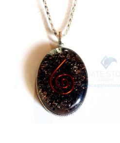 Oval Shaped Black Tourmaline Orgone Jewelry