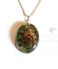 Oval Shaped Green Jade Orgone Jewelry