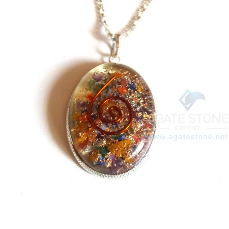 Oval Shaped Mix Chakra Orgone Jewelry