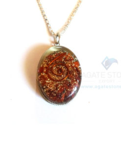 Oval Shaped Red Jasper Orgone Jewelry