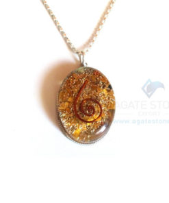 Oval Shaped Yellow Jasper Orgone Jewelry