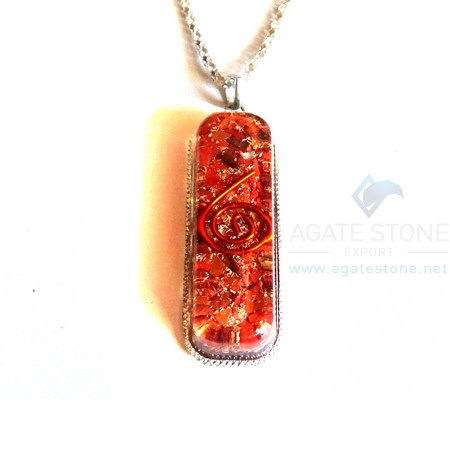 Pipe Shaped Red Jasper Orgone Jewelry
