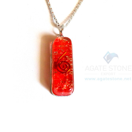 Pipe Shaped Red Onyx Orgone Jewelry