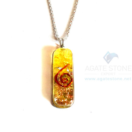 Pipe Shaped Yellow Onyx Orgone Jewelry