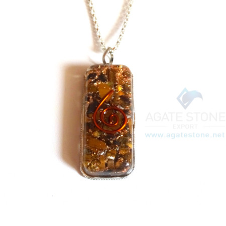 Pipe Shaped Yellow jasper Orgonite Jewellery