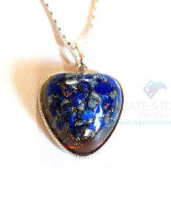 Puffy Heart Shaped Lazuli Lazuli Orgone Jewelry