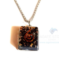 Rectangle Shaped Black Tourmaline Orgone Jewelry