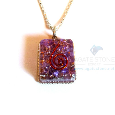Square Shaped Indigo Onyx Orgone Jewelry