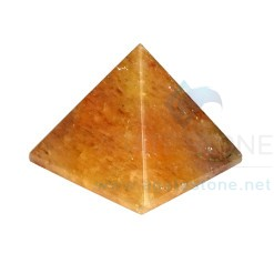 Golden Quartz Agate Stone Pyramid