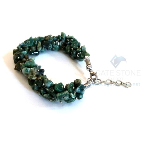 Green Jade Chips Bracelet