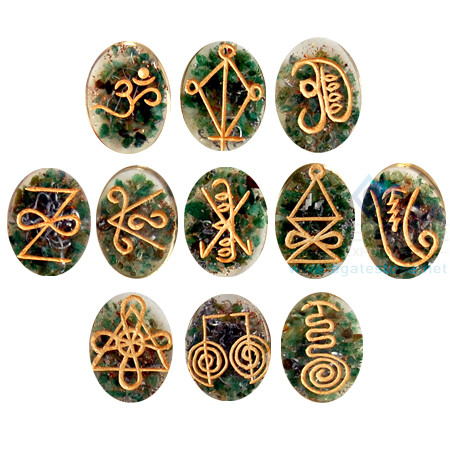 Green Jade Orgonite Reiki Karuna Set