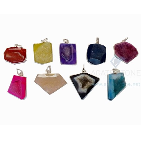 Mix-Agate-Druzy-Stone-Pendants