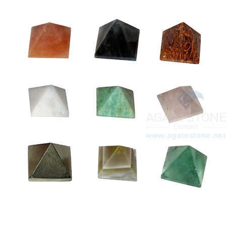 Mix Agate Stone Pyramid