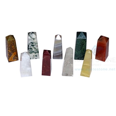 Mix Agate Stone Tower