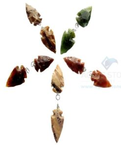 Mix Small Agate Arrowhead Pendant