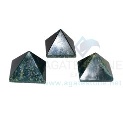 Moss Agate Stone Pyramid