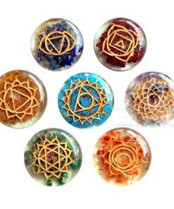 Orgone Disc Engraved Chakra without coil
