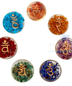 Orgone Disc Sanskrit Engraved Chakra without coil