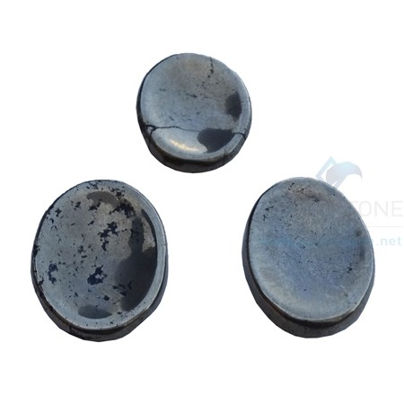 Pyrite Agate Worry Stone