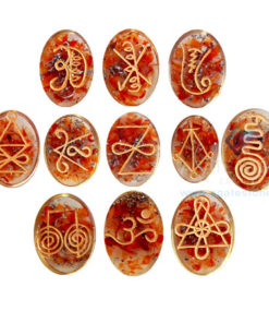 Red Carnelian Orgonite Reiki Karuna Set