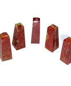Red Jasper Agate stone Tower
