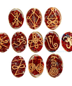 Red Jasper Orgonite Reiki Karuna Set