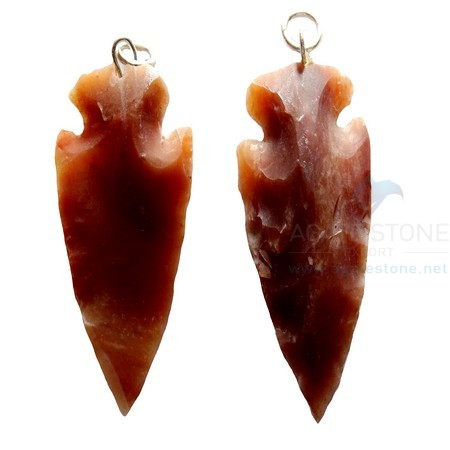 Reddish Small Agate Arrowhead Pendant