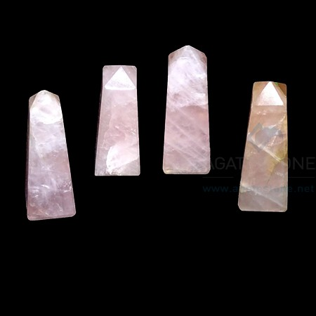 Rose Quartz Stone Tower