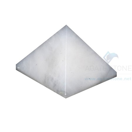 White Moonstone Agatestone Pyramid
