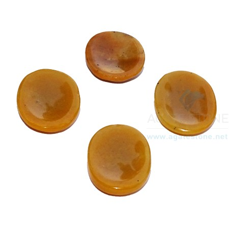 Yellow Aventurine Agate Worry Stone