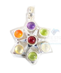 Chakra Cutting Star Shaped Metal Pendant