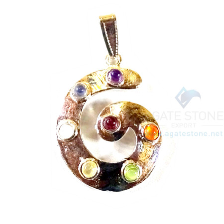 Chakra Metal Good Will Energy Pendant