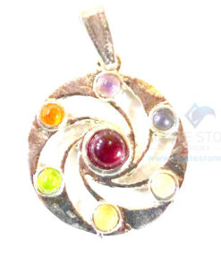 Chakra Metal Wheel Flowing Energy Pendant