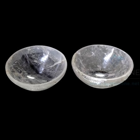 2 Inch Crystal Quartz Gemstone Bowl