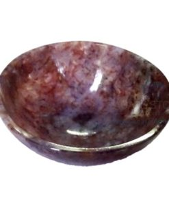 3 Inch Red Fancy Agate Stone Bowl