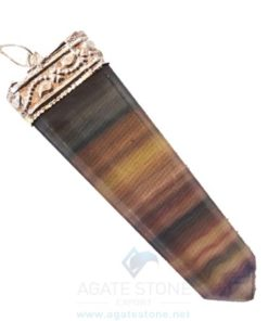 Gemstone Flat Pencil Pendants