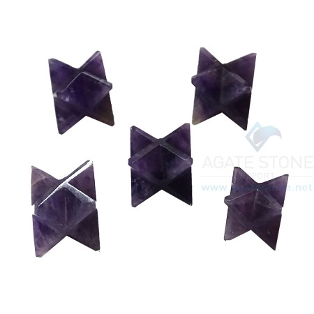 Amethyst Small Merkaba Star