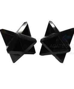 Black Agate Big Merkaba Stars