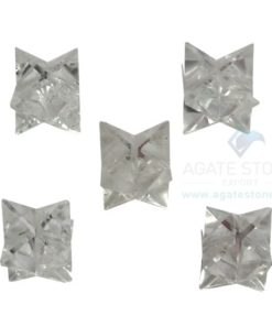 Clear Crystal Quartz Small Merkaba Stars