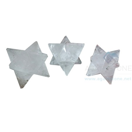 Crystal Quartz Big Merkaba Stars