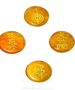 Golden Quartz Reiki Disc Set (4)